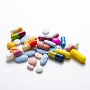gekleurde medicijnen
